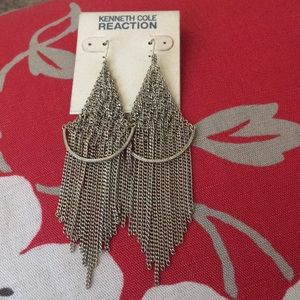 NWT Kenneth Cole Light Gold Chandelier Earrings